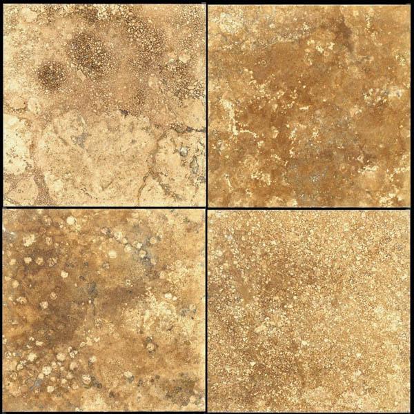 Tumbled marble floor tiles